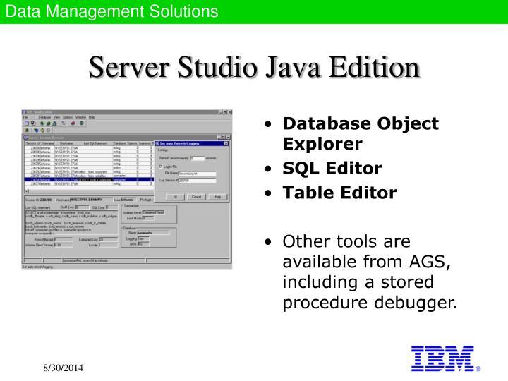 Server Studio Java Edition