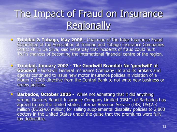 The Impact of Fraud on Insurance