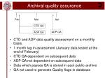 archival quality assurance