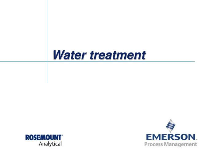 water treatment n.