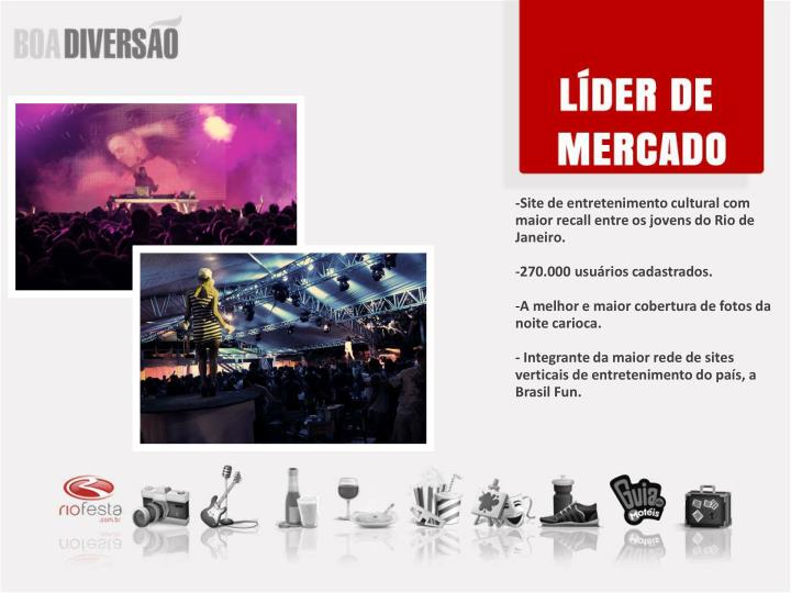 -Site de entretenimento cultural com maior recall entre os jovens do Rio de Janeiro.