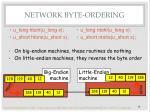 network byte ordering