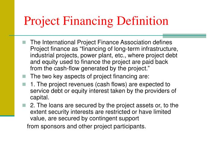 definition of the project background