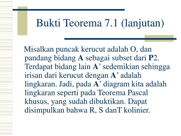 Bukti Teorema 7.1 (lanjutan)