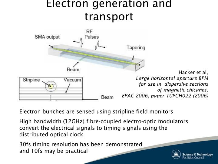 Electron generation and transport