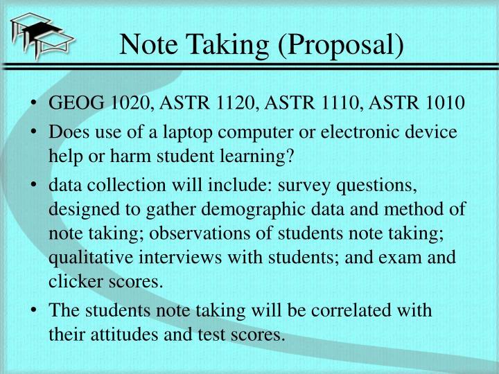 Note Taking (Proposal)