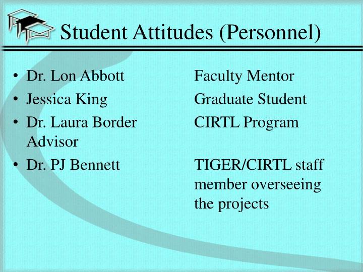 Student Attitudes (Personnel)