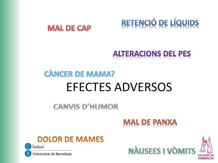 EFECTES ADVERSOS
