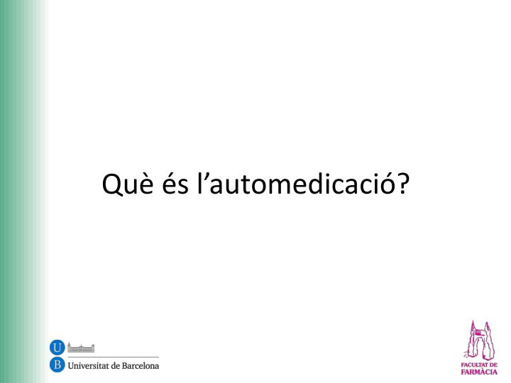 Qu s l automedicaci