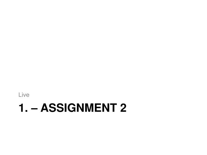 1 assignment 2