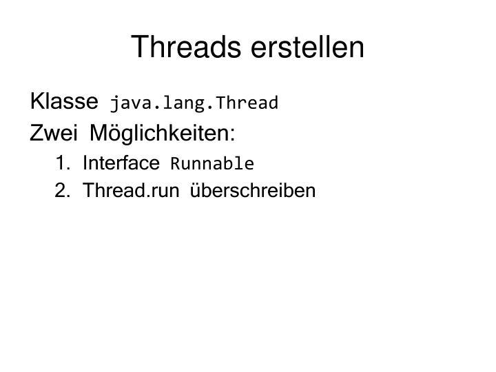 Threads erstellen