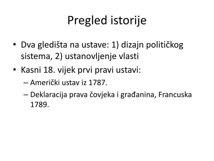 Pregled istorije