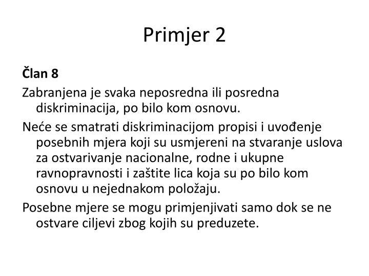 Primjer 2
