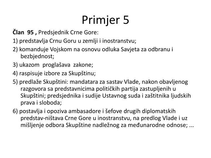 Primjer 5