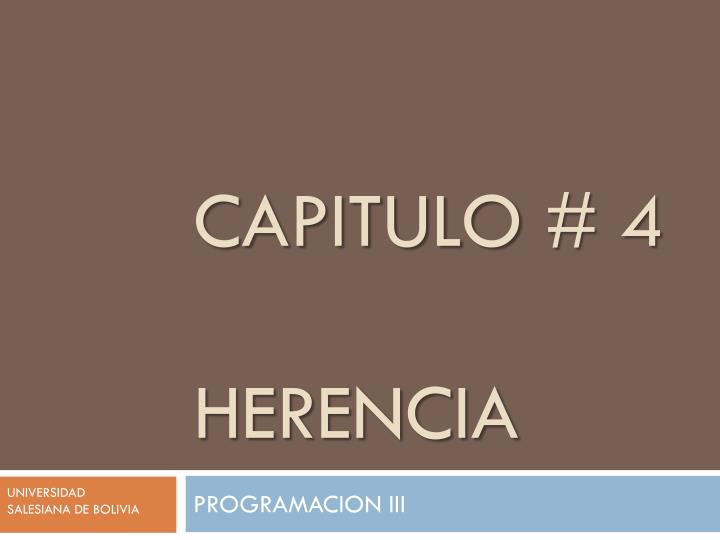 Capitulo 4 herencia