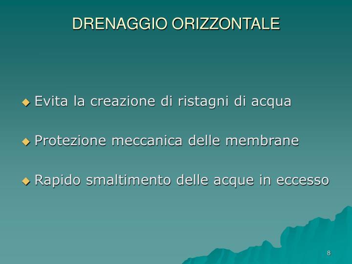 DRENAGGIO ORIZZONTALE
