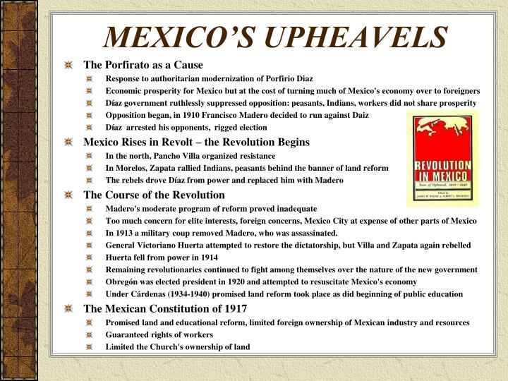 MEXICO'S UPHEAVELS