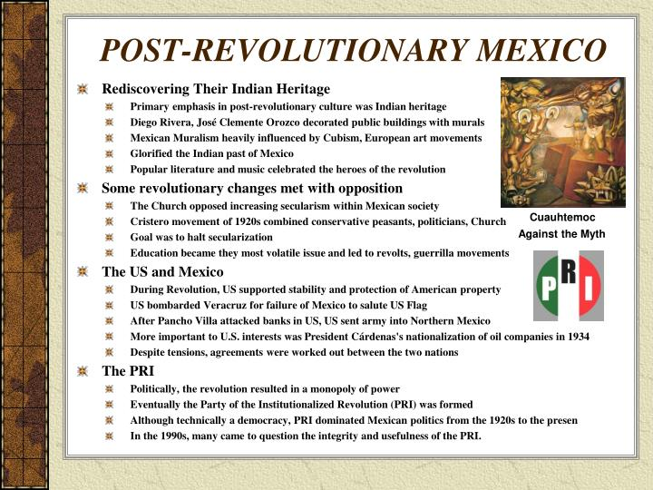 POST-REVOLUTIONARY MEXICO