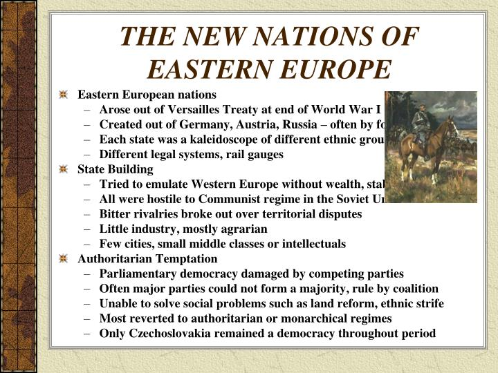 THE NEW NATIONS OF EASTERN EUROPE