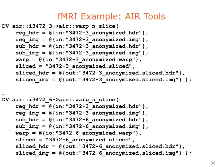 fMRI Example: AIR Tools