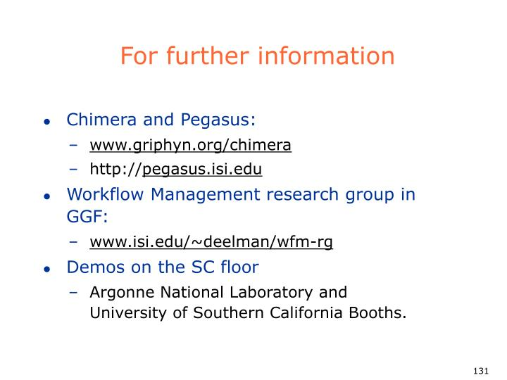 For further information