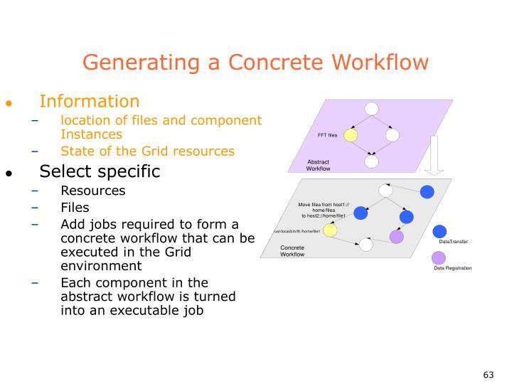 Generating a Concrete Workflow