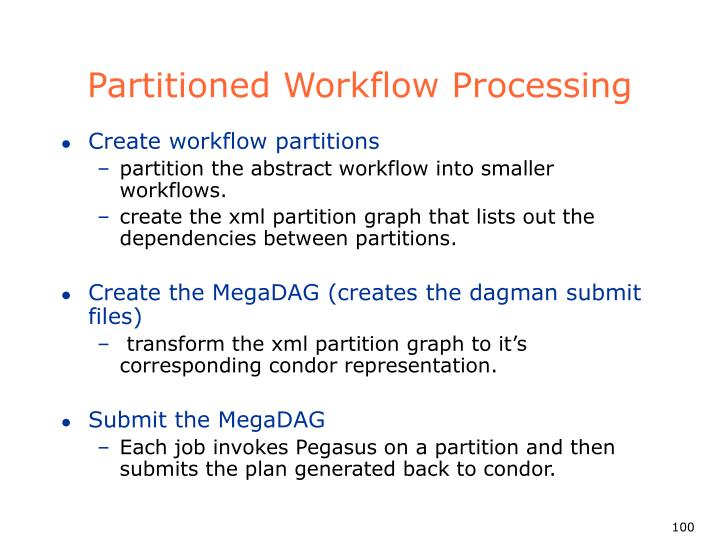 Partitioned Workflow Processing
