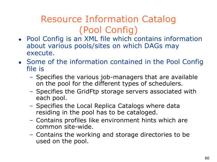 Resource Information Catalog