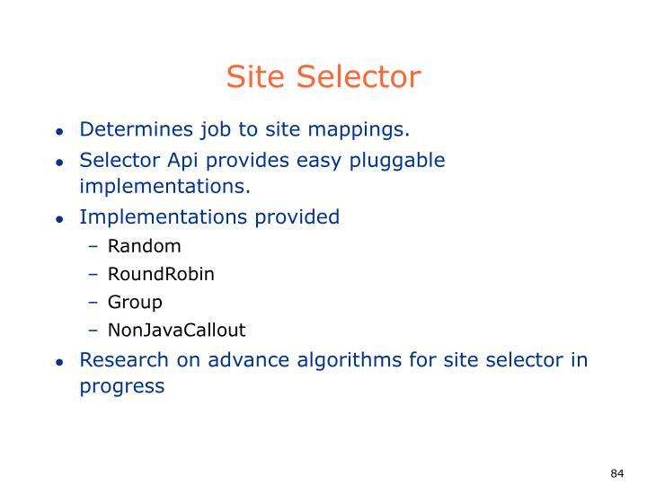 Site Selector