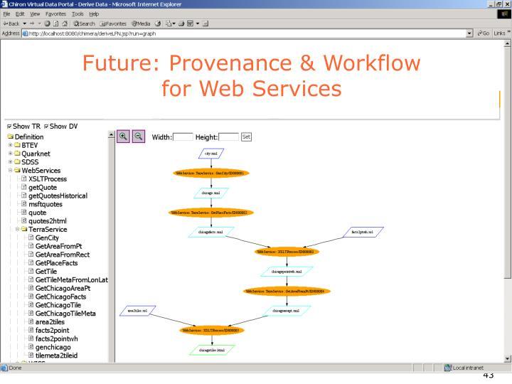 Future: Provenance & Workflow