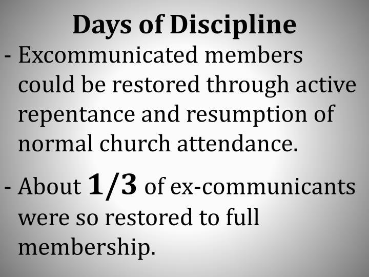 Days of Discipline