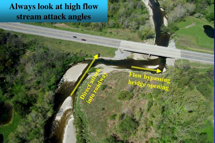 Always look at high flow stream attack angles