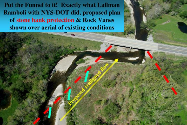 Put the Funnel to it!  Exactly what Lallman Ramboli with NYS-DOT did, proposed plan of