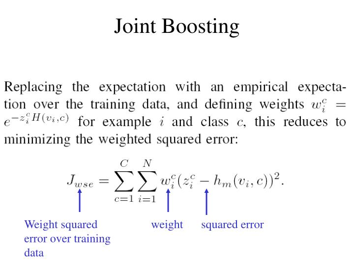 Joint Boosting
