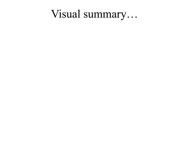 Visual summary…