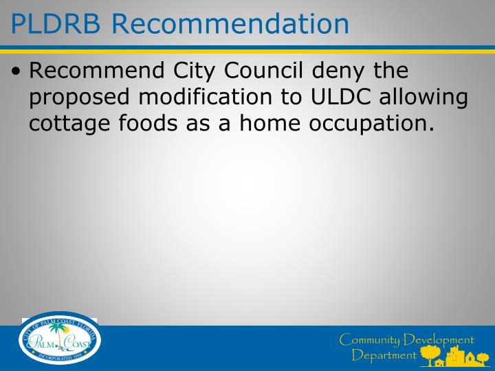PLDRB Recommendation