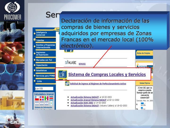 Declaración de información de las compras de bienes y servicios adquiridos por empresas de Zonas Francas en el mercado local (100% electrónico).