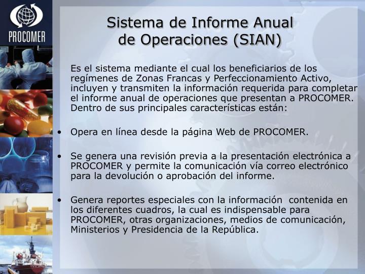 Sistema de Informe Anual