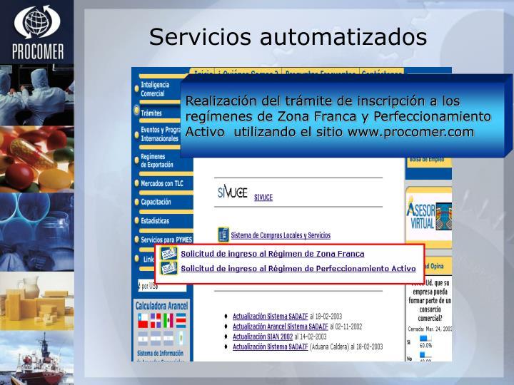Realización del trámite de inscripción a los regímenes de Zona Franca y Perfeccionamiento Activo  utilizando el sitio www.procomer.com