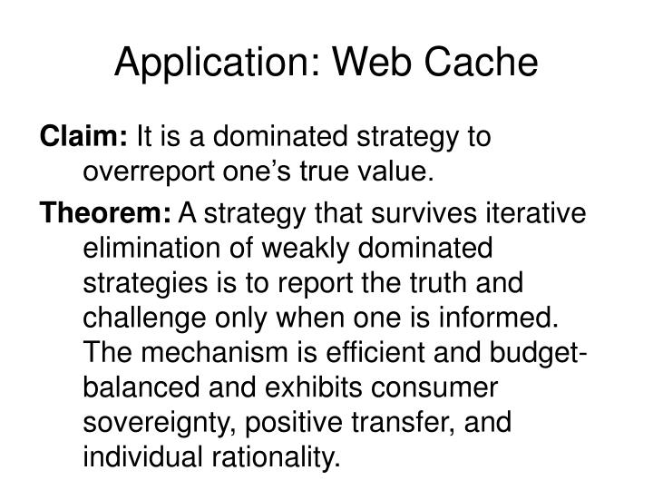 Application: Web Cache