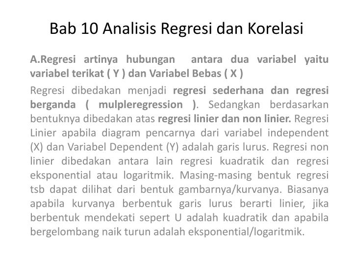 bab 10 analisis regresi dan korelasi n.