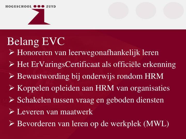 Belang EVC