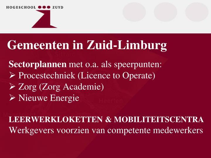 Gemeenten in Zuid-Limburg