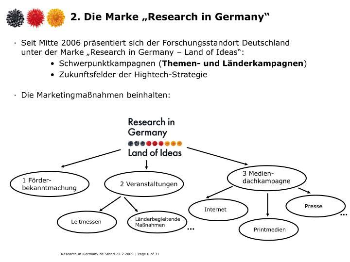 "2. Die Marke ""Research in Germany"""