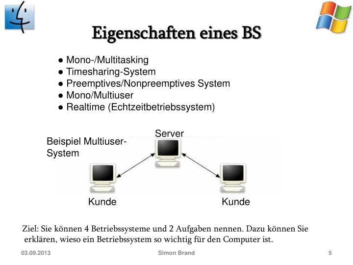 Eigenschaften eines BS