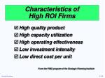 characteristics of high roi firms