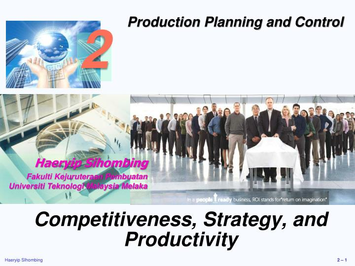 competitiveness strategy and productivity n.
