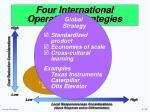 four international operations strategies2