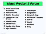 match product parent