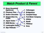 match product parent1